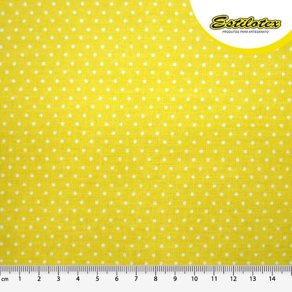 Estampado confete amarelo e branco 4561