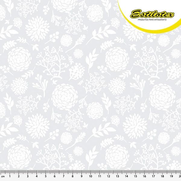 Estampado hortencia cinza 30652